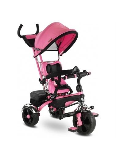 BabyHope Babyhope Star Tricycle Üç Teker Ebeveyn Kontrollü Şişme Eva Tekerlekli Bisiklet BH-9500 Pembe